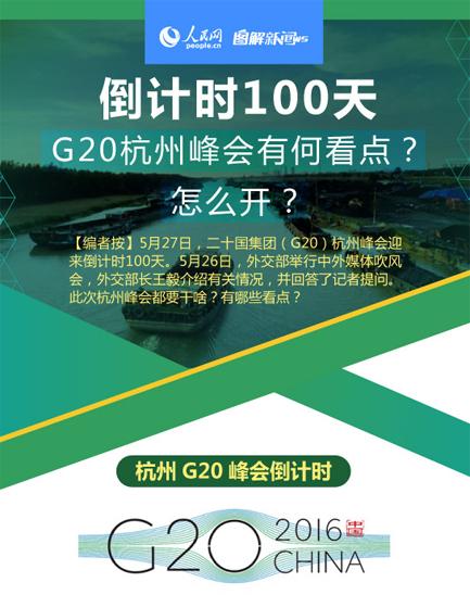 图解:倒计时100天 G20杭州峰会有何看点?怎样开?