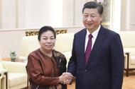 习近平会晤老挝党地方总布告特使