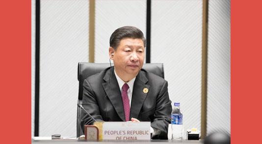 习近平列席APEC第二十五次向导人非正式集会