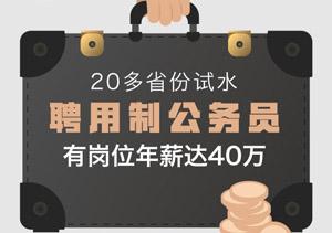 20多省份试水聘任制公事员,有岗亭年薪达40万