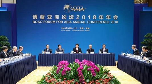 习近平个人会晤博鳌亚洲论坛现任和候任理事