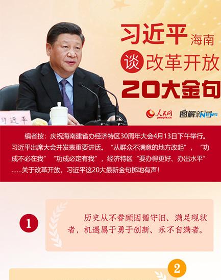 图解:习近平海南谈变革开放20大金句