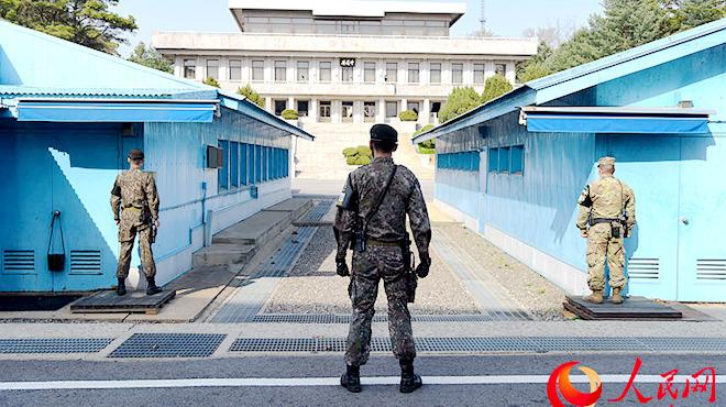 组图:本网记者看望朝韩第三次领袖会面所在