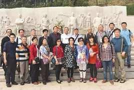 台湾政治受难人参访团到北京西山拜祭