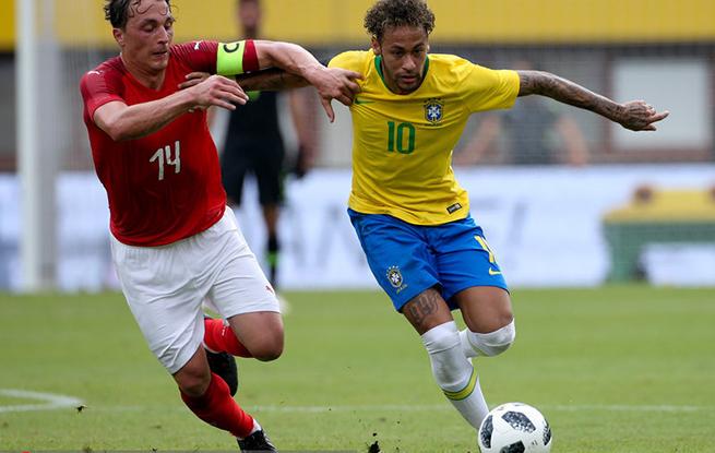 热身赛-内马尔热苏斯库鸟进球 巴西3-0胜奥天时
