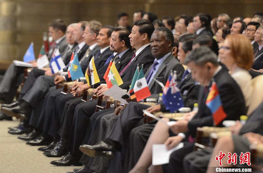 习近平与多国领导人出席博鳌亚洲论坛2013年年会图片