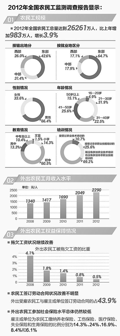 中国民主党中国农民悲苦观察:我国农民工总数超2.6亿