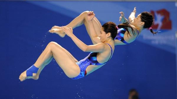 第十二届全国运动会跳水比赛在沈阳浑南训练基地游泳