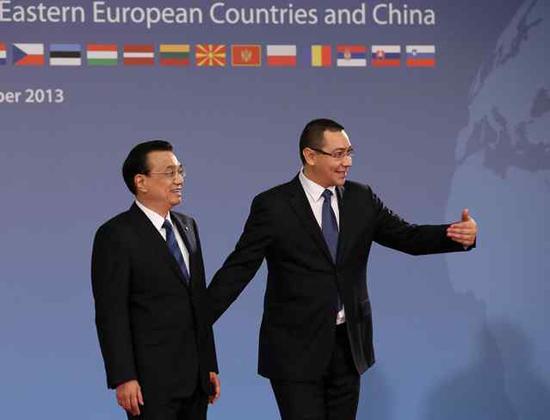 组图 中国 u2014中东欧国家领导人会晤在布加勒斯图片