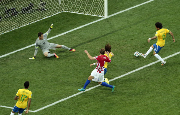 世界杯揭幕战巴西3比1战胜克罗地亚图片