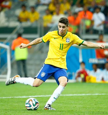 在巴西贝洛奥里藏特进行的2014年巴西世界杯半决赛中,巴西队以1图片
