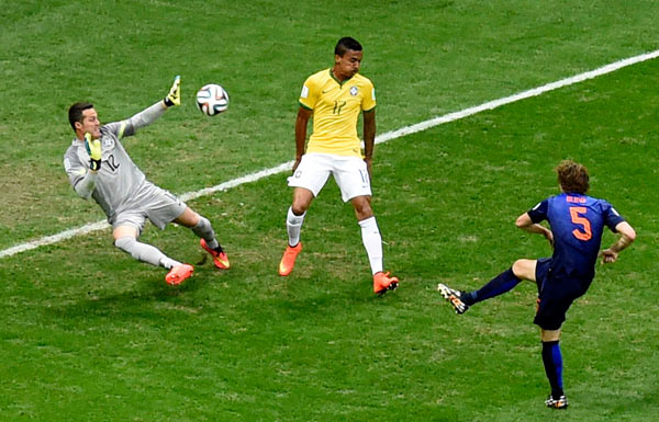在巴西巴西利亚国家体育场进行的2014年巴西世界杯季军争夺战中,图片