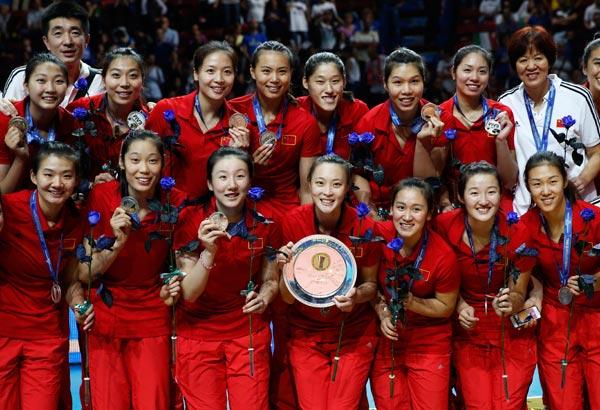 女排世锦赛:中国队获亚军