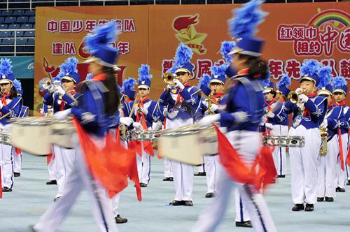 中国少年先锋队鼓号队交流活动在京举行