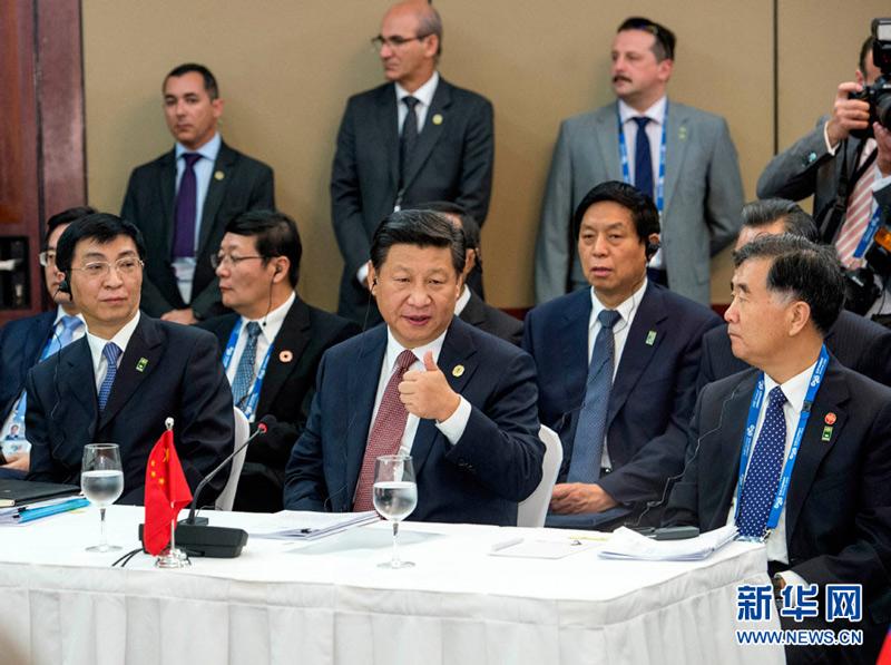 2014年11月15日,金砖国家领导人非正式会晤在澳大利亚布里斯班举图片