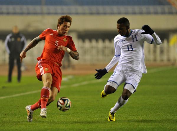 中国国家男子足球队1比1战平洪都拉斯队