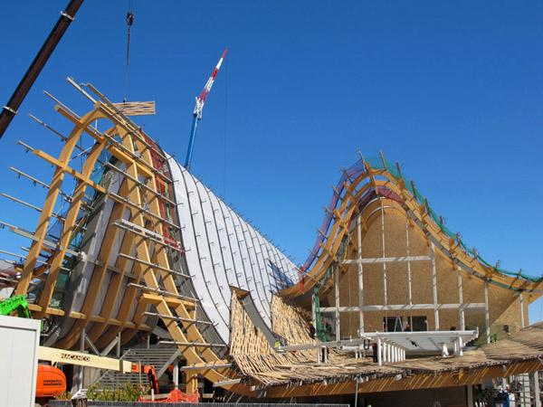 中国国家馆主体结构已经建成