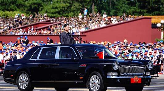 中共中央总书记、国家主席、中央军委主席习近平检阅部队