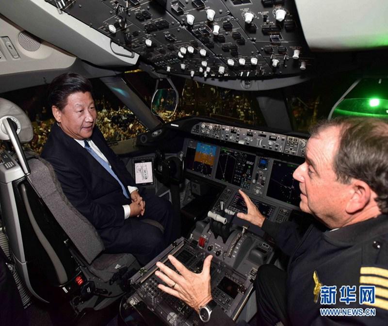 航空公司的波音—787飞机
