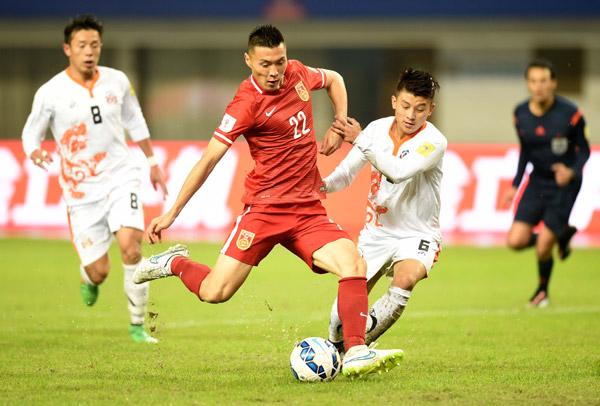 世界杯预选赛 中国队主场12比0击败不丹队