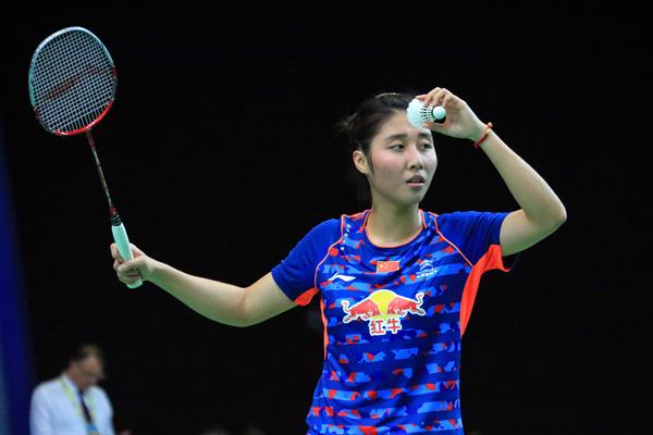 里约奥运会羽毛球测试赛:中国选手包揽五块金牌