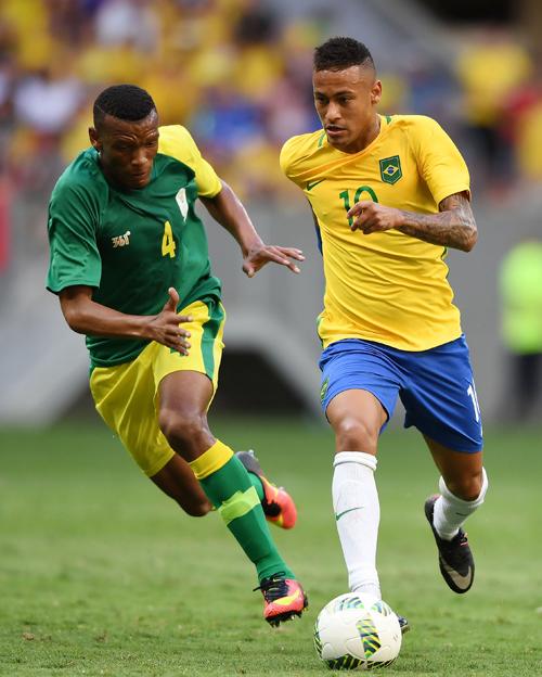里约奥运男足小组赛:巴西队平南非队