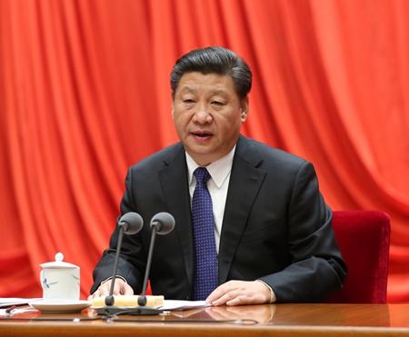 2016年1月12日,中共中央总书记、国家主席、中央军委主席习近平在中国共产党第十八届中央纪律检查委员会第六次全体会议上发表重要讲话。新华社 马占成 摄
