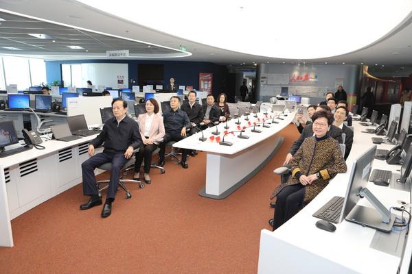 林郑月娥参访人民日报社:欢迎你们多来香港采访