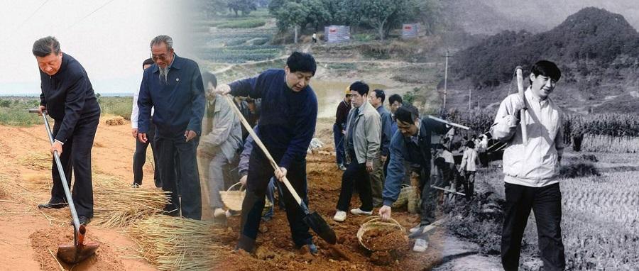 同群众一起做农活、打糍粑、炸酥肉、种树……数十年来
