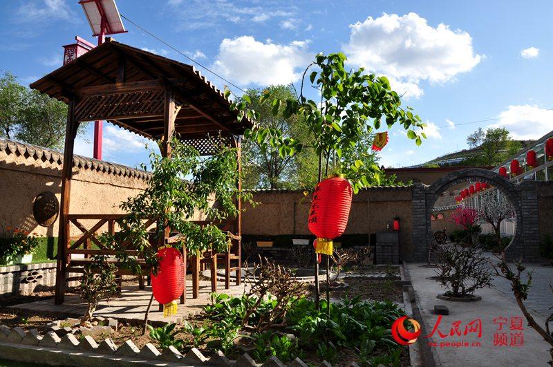 龙王坝村一景