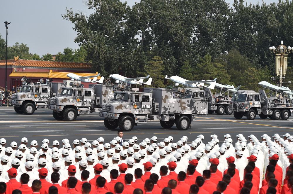 庆祝中华人民共和国成立70周年大会:无人作战第1方队