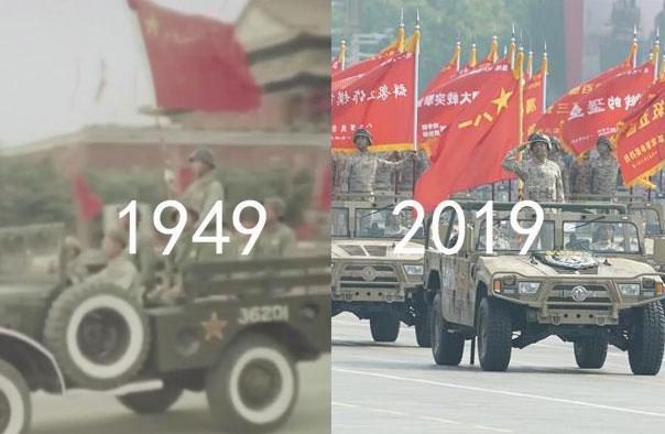 跨越70年的大阅兵