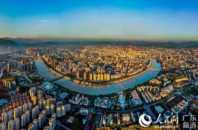 梅州城区鸟瞰