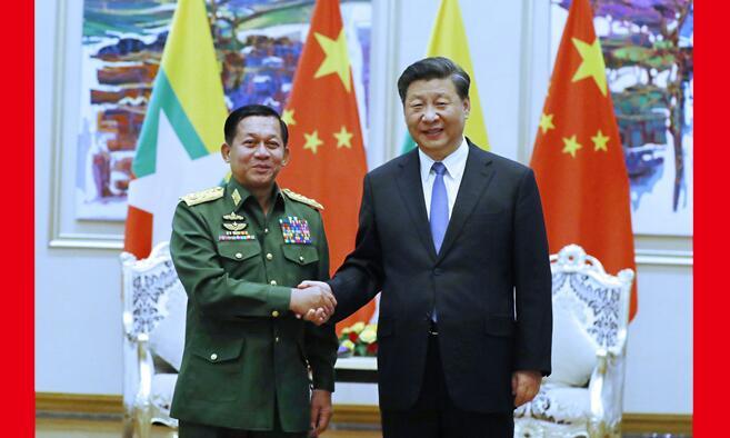 w88优德官网会见缅甸国防军总司令敏昂莱