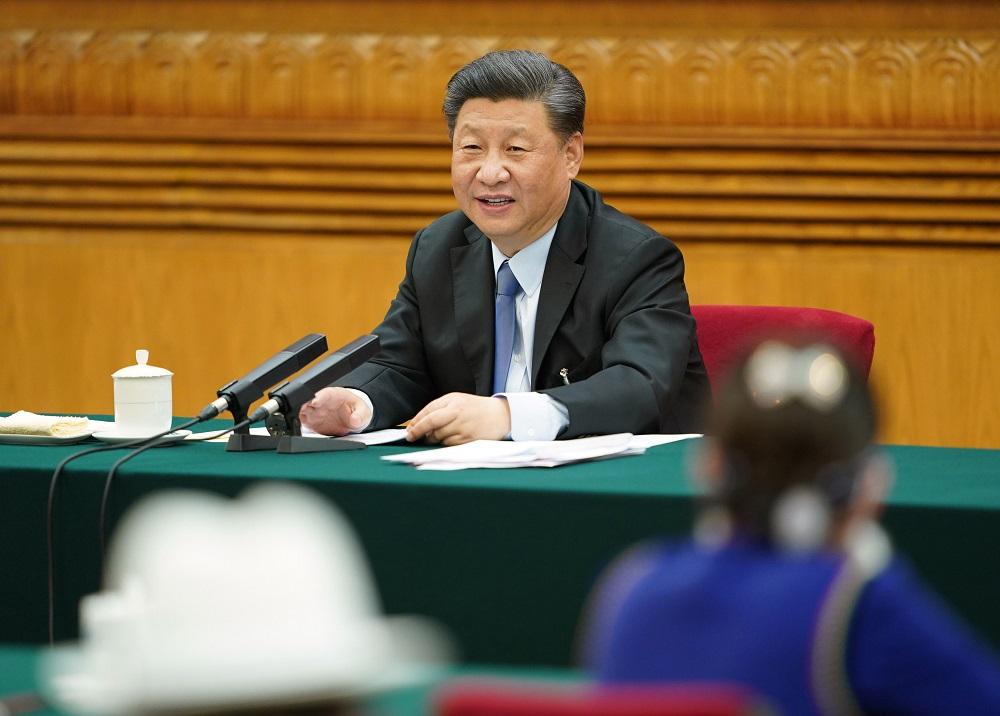 国家主席习近平参加内蒙古代表团审议