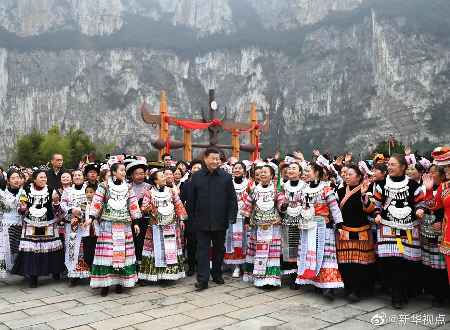 习近平赴贵州考察 向全国人民致以新春祝福(图7)