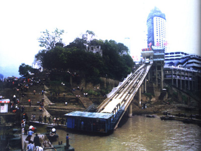 95年重庆港(朝天门码头)-重庆市建国以来新旧图片对比图片