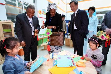 京宣武区回民幼儿园参观