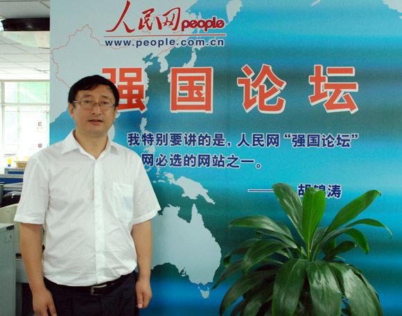 辽宁省纪委常委、纠风办副主任韩玉起在人民网