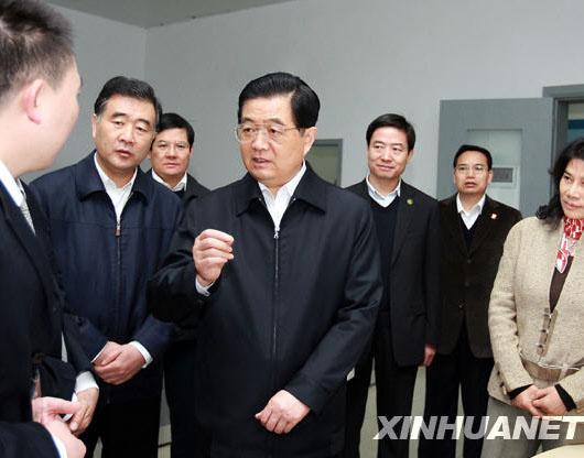 记胡锦涛总书记在广东珠海考察工